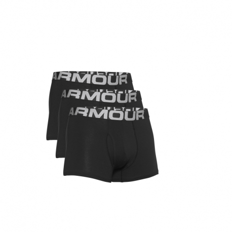 Pánske boxerky UNDER ARMOUR-UA Charged Cotton 3in 3 Pack-BLK 001