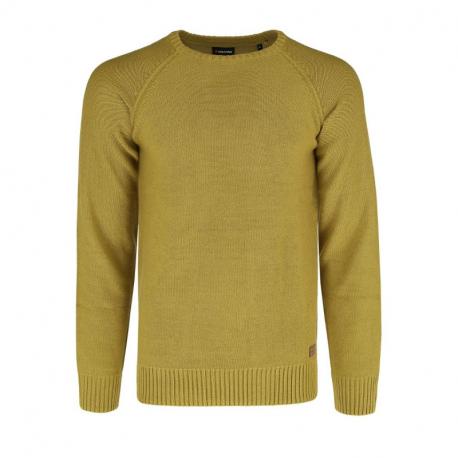 Pánsky sveter VOLCANO-S-KIRK-200M-YELLOW MEL