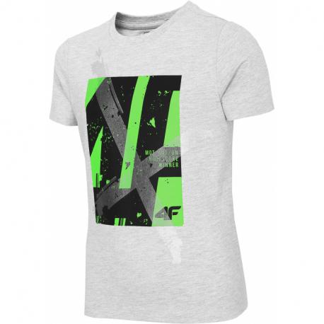 Chlapecké tričko s krátkým rukávem 4F-BOYS-t-shirt-HJL21-JTSM002A-27M-Grey