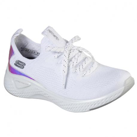 Dámska rekreačná obuv SKECHERS-Solar Fuse Gravity Experience white/silver