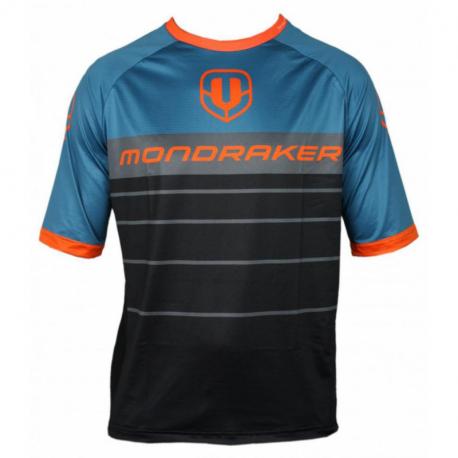 Cyklistický dres s krátkym rukávom MONDRAKER-Enduro - Trail - Jerseyshort - black/petroleum/orange