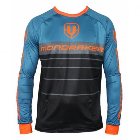 Cyklistický dres s dlouhým rukávem Mondraker-Enduro -Trail - Jerseylong - black / petroleum / orange