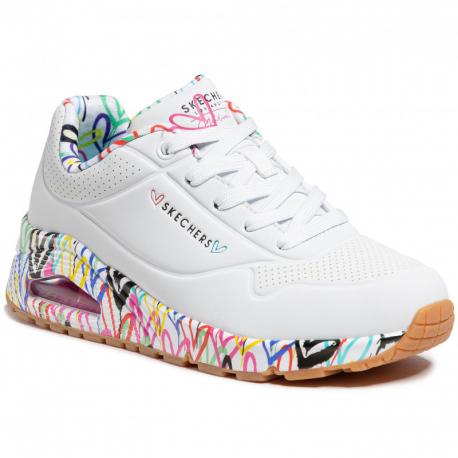 Dámska rekreačná obuv SKECHERS-Uno Loving Love white