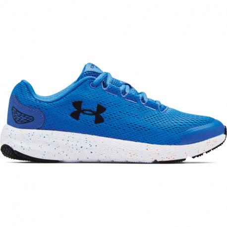 Juniorská sportovní obuv (tréninková) UNDER ARMOUR-UA GS Charged Pursuit 2 blue circuit / white / white