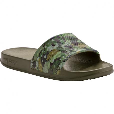 Detské žabky (plážová obuv) COQUI-Tora army green camo