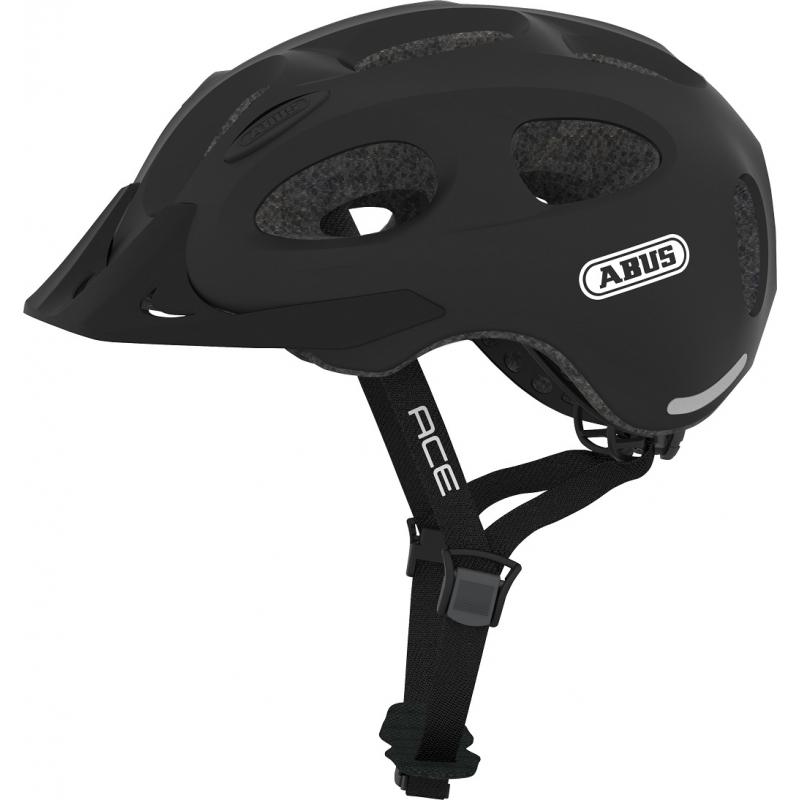 Cyklistická přilba ABUS-Youn-I ACE velvet black Černá 52/57 cm 2021