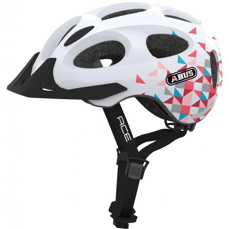 Cyklistická přilba ABUS-Youn-I ACE white prism Bílá 52/57 cm 2021