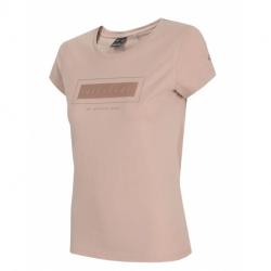 Dámske tričko s krátkym rukávom 4F-WOMENS T-SHIRT-H4L21-TSD034-56S-LIGHT PINK