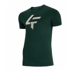 Pánske tričko s krátkym rukávom 4F-MENS T-SHIRT-H4L21-TSM010-40S-DARK GREEN