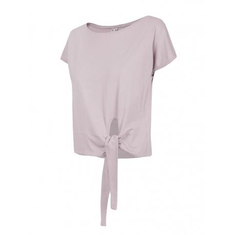 Dámské tréninkové tričko s krátkým rukávem 4F-WOMENS T-SHIRT-H4L21-TSD023-52S-LIGHT VIOLET
