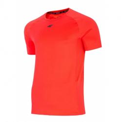 Pánske tréningové tričko s krátkym rukávom 4F-MENS FUNCTIONAL T-SHIRT-H4L21-TSMF016-62N-RED NEON