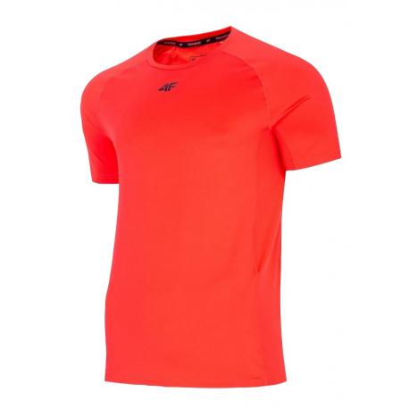Pánské tréninkové triko s krátkým rukávem 4F-MENS FUNCTIONAL T-SHIRT-H4L21-TSMF016-62N-RED NEON