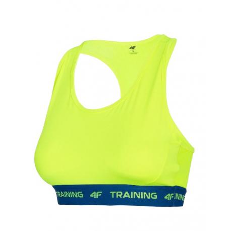 Dámská tréninková sportovní podprsenka 4F-SPORTS BRA-H4L21-STAD016-45S-CANARY GREEN