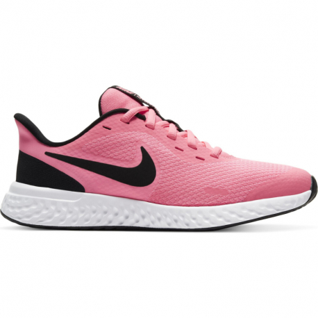Juniorská rekreační obuv NIKE-Revolution 5 GS pink / black / white