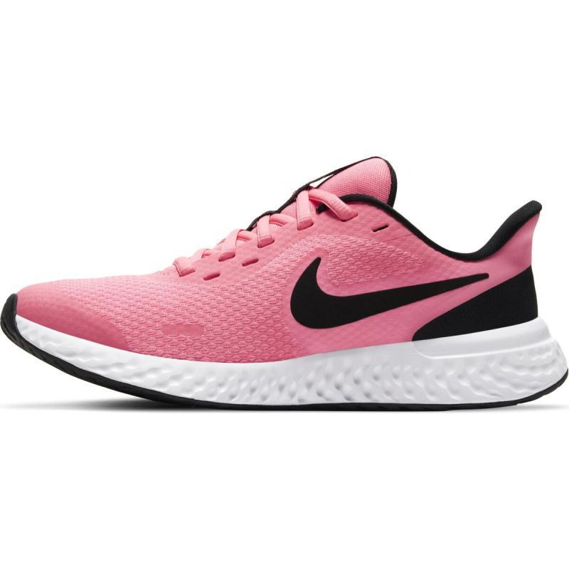 Juniorská sportovní obuv (tréninková) NIKE-Revolution 5 GS pink / black / white -