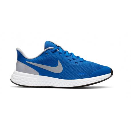 Juniorská rekreačná obuv NIKE-Revolution 5 GS royal blue/grey/white