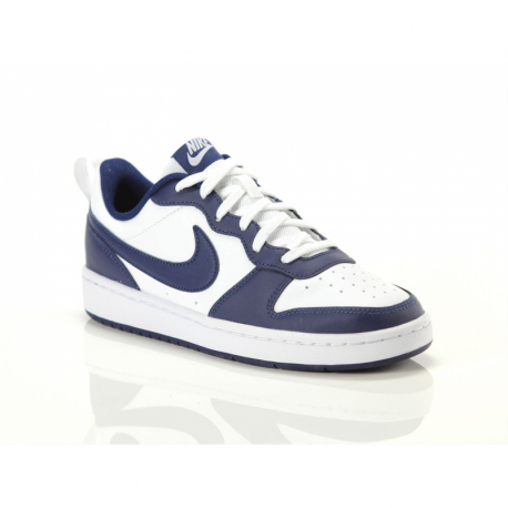Juniorská rekreační obuv NIKE-Court Borough Low 2 GS white / blue void / signal blue