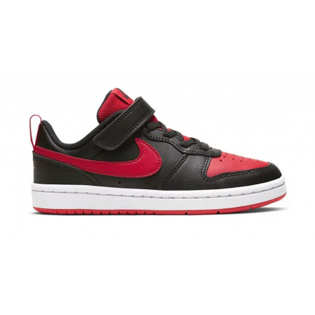 Dětská rekreační obuv NIKE-Court Borough Low 2 PSV black / white / red