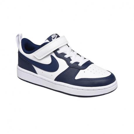 Dětská rekreační obuv NIKE-Court Borough Low 2 PSV white / blue
