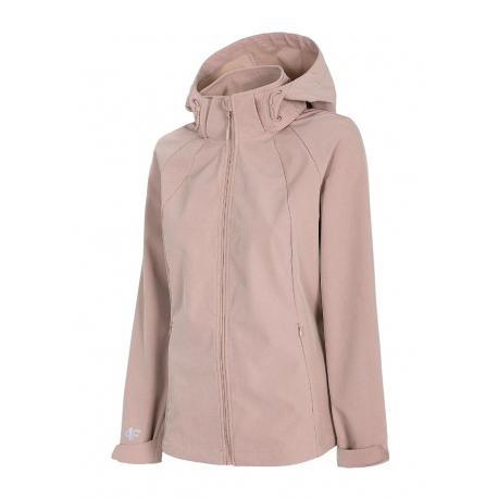 Dámska turistická softshellová bunda 4F-WOMENS SOFTSHELL-H4L21-SFD002-56S-LIGHT PINK