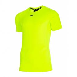 Pánske tréningové tričko s krátkym rukávom 4F-MENS FUNCTIONAL T-SHIRT-H4L21-TSMF015-45N-CANARY GREEN NEON