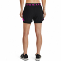 Dámske tréningové kraťasy UNDER ARMOUR-Play Up 2-in-1 Shorts-BLK 005 -
