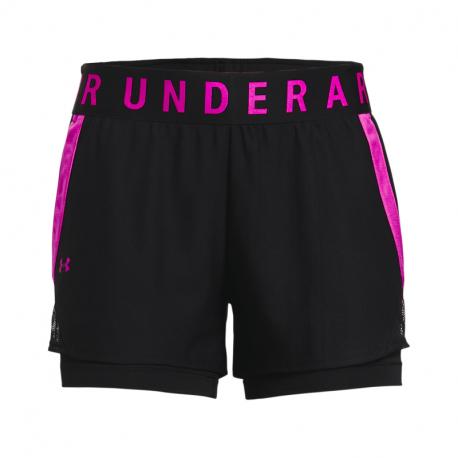 Dámske tréningové kraťasy UNDER ARMOUR-Play Up 2-in-1 Shorts-BLK 005