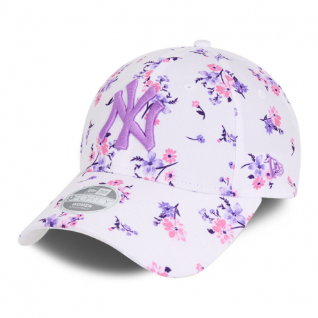 Dámská kšiltovka NEW ERA-940W MLB Floral 9forty NEYYAN - white