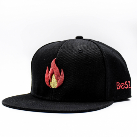 Šiltovka BE52-FLAME Snapback Black