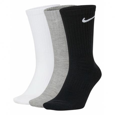 Ponožky NIKE-U NK EVERYDAY LTWT CREW 3PR-black/white/grey