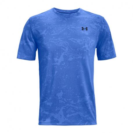 Pánske tréningové tričko s krátkym rukávom UNDER ARMOUR-UA Training Vent Camo SS-BLU
