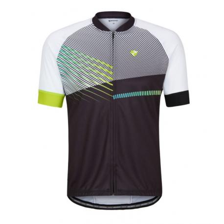 Cyklistický dres s krátkým rukávem ZIENER-NOFRET man (tricot) black