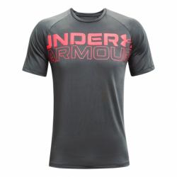 Pánske tréningové tričko s krátkym rukávom UNDER ARMOUR-UA TECH 2.0 WORDMARK SS-GRY