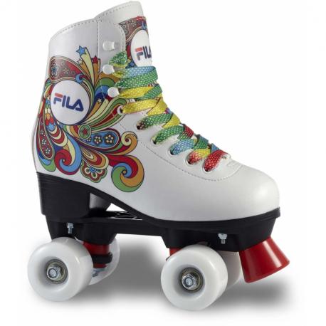 Dámske 4-kolieskové korčule FILA SKATES-BELLA WHITE