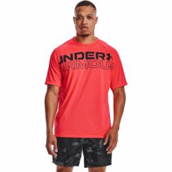 Pánske tréningové tričko s krátkym rukávom UNDER ARMOUR-UA TECH 2.0 WORDMARK SS-RED