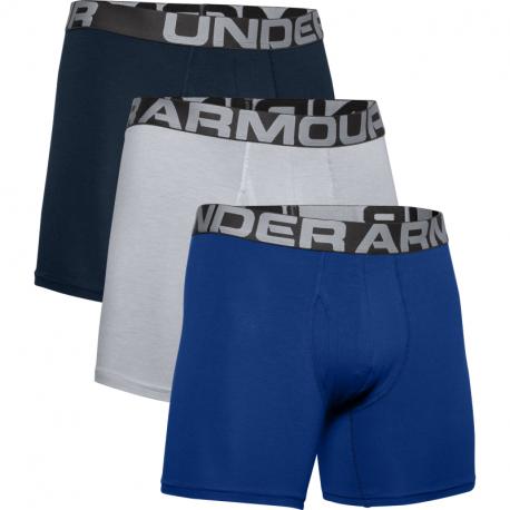Pánské boxerky UNDER ARMOR-UA Charged Cotton 6in 3 Pack-BLU