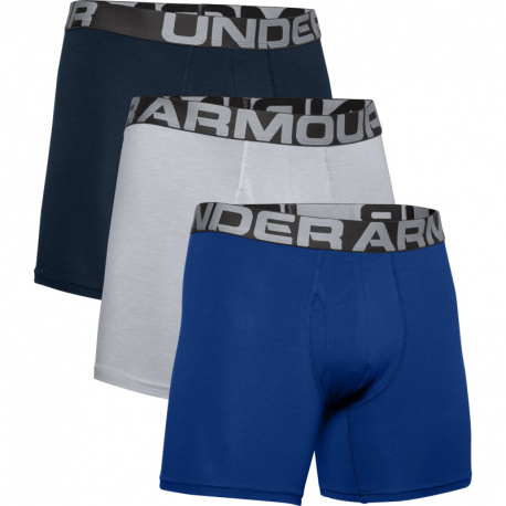 Pánske boxerky UNDER ARMOUR-UA Charged Cotton 6in 3 Pack-BLU