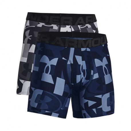 Pánske boxerky UNDER ARMOUR-UA Tech 6in Novelty 2 Pack-GRY