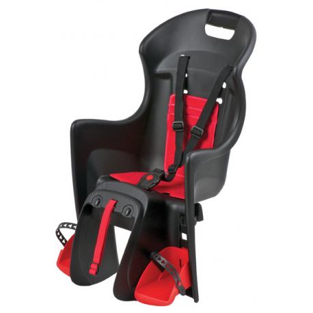 Detská sedačka POLISPORT-Boodie na nosič, černo-červená