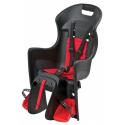 Detská sedačka POLISPORT-Boodie na nosič, černo-červená -