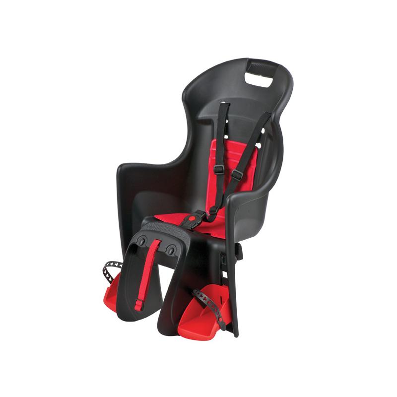 POLISPORT-Boodie na nosič, černo-červená Čierna