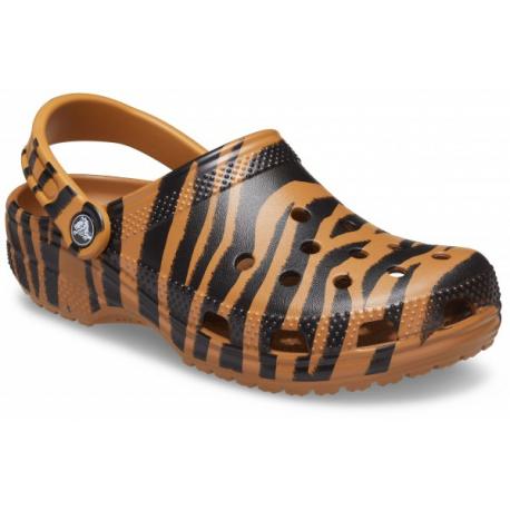Kroksy (rekreační obuv) CROCS-Animal Print Clog white / zebra print