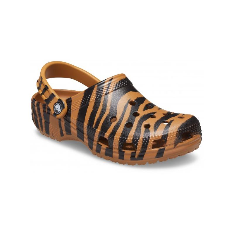 Kroksy (rekreačná obuv) CROCS-Animal Print Clog white/zebra print -