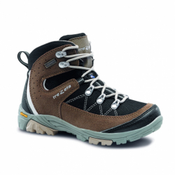 Juniorská turistická obuv vysoká TREZETA-CYCLONE WP JR BLACK BROWN