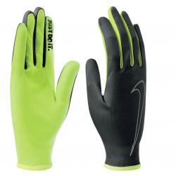Dámske bežecké rukavice NIKE-MTS WOMENS RALLY RUN GLOVES BLACK/VOLT