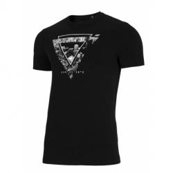 Pánske tričko s krátkym rukávom 4F-MENS T-SHIRT-H4L21-TSM022-20S-DEEP BLACK