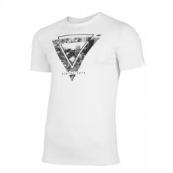 Pánske tričko s krátkym rukávom 4F-MENS T-SHIRT-H4L21-TSM022-10S-WHITE