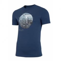 Pánske tričko s krátkym rukávom 4F-MENS T-SHIRT-H4L21-TSM023-32S-DENIM