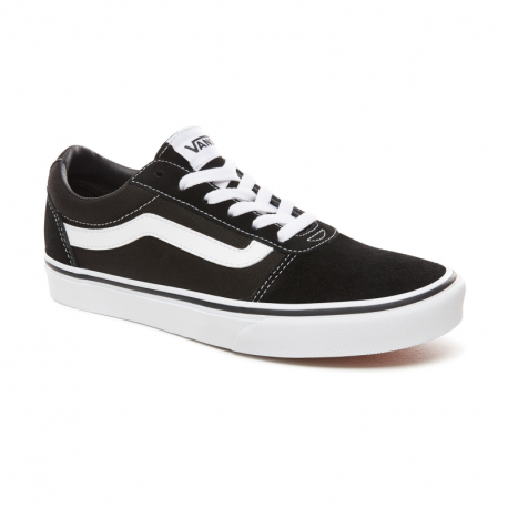 Dámská rekreační obuv VANS-WM Ward- (SUEDE / CANVAS) BLACK / WHITE