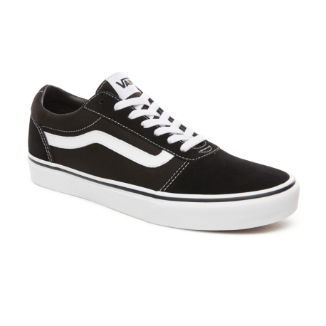 Pánska rekreačná obuv VANS-MN Ward-(Suede Canvas) black/whit